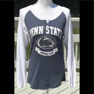 Penn State Henley with Good Luck glitter Lion